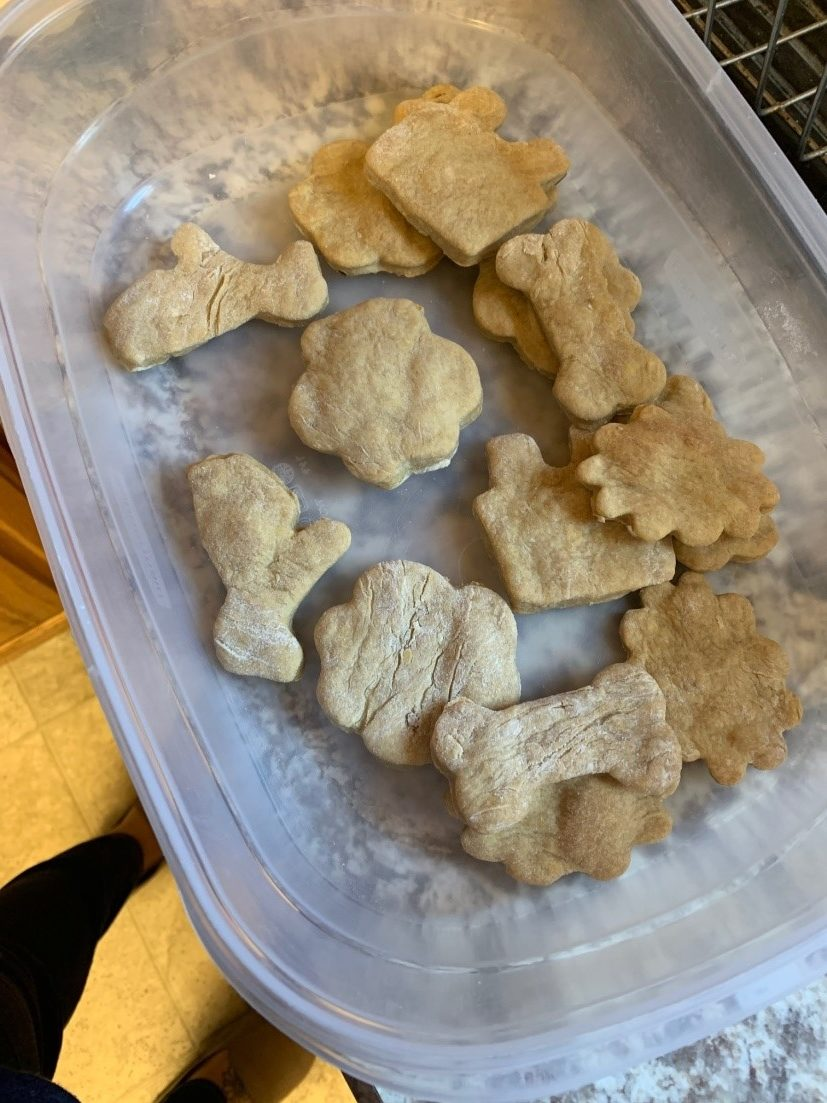 A group of homemade dog treats our residents baked