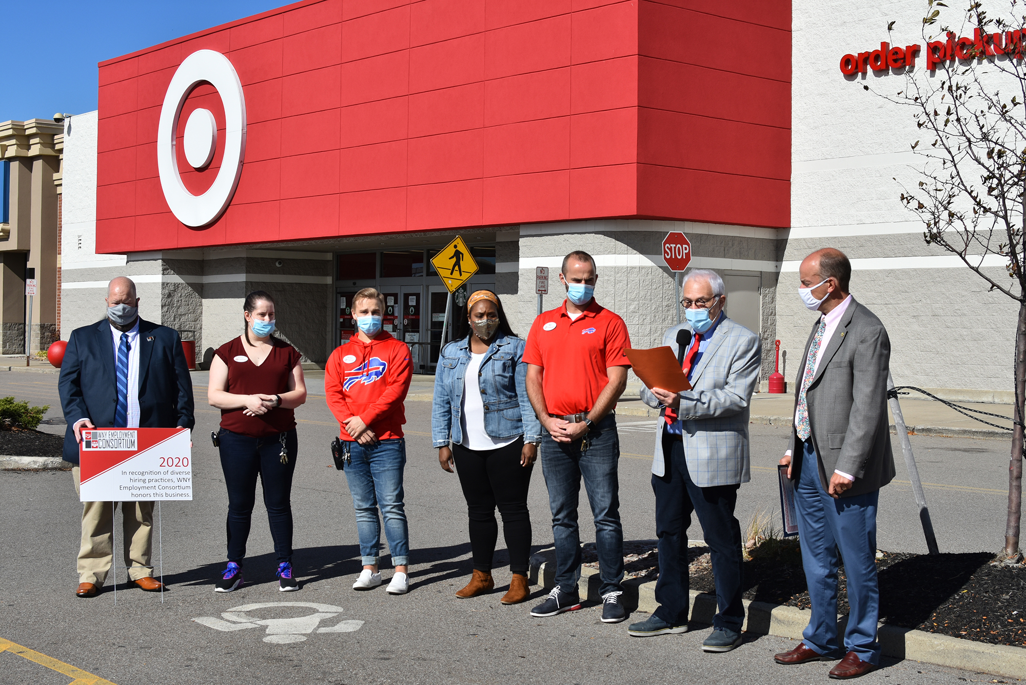 Members of the WNY Employment Consortium recognized the staff at Target for being an inclusive employer.