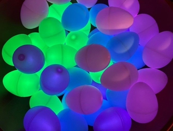 Glow in the dark eggs for a special Easter egg hunt