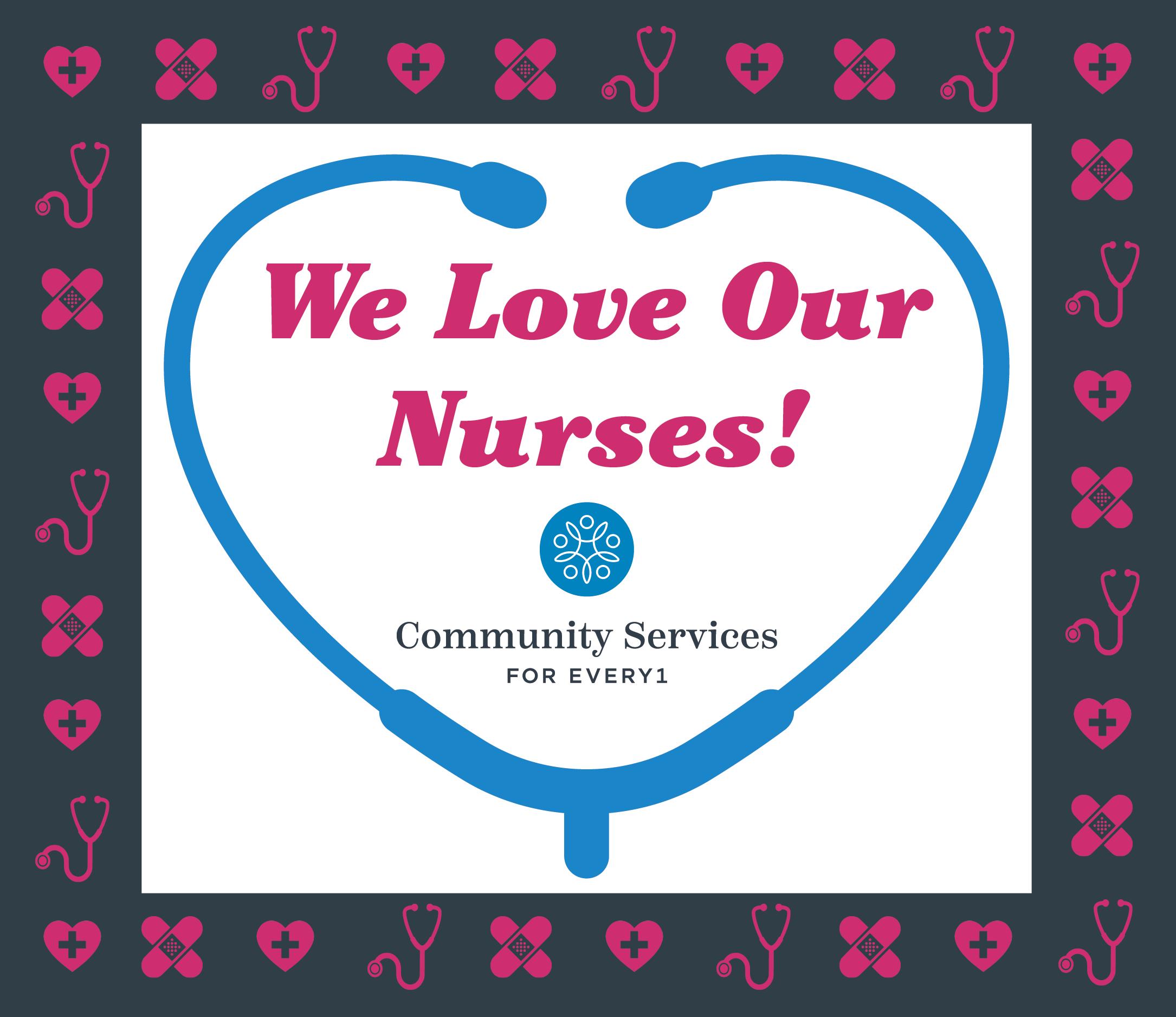 We love our Nurses social post