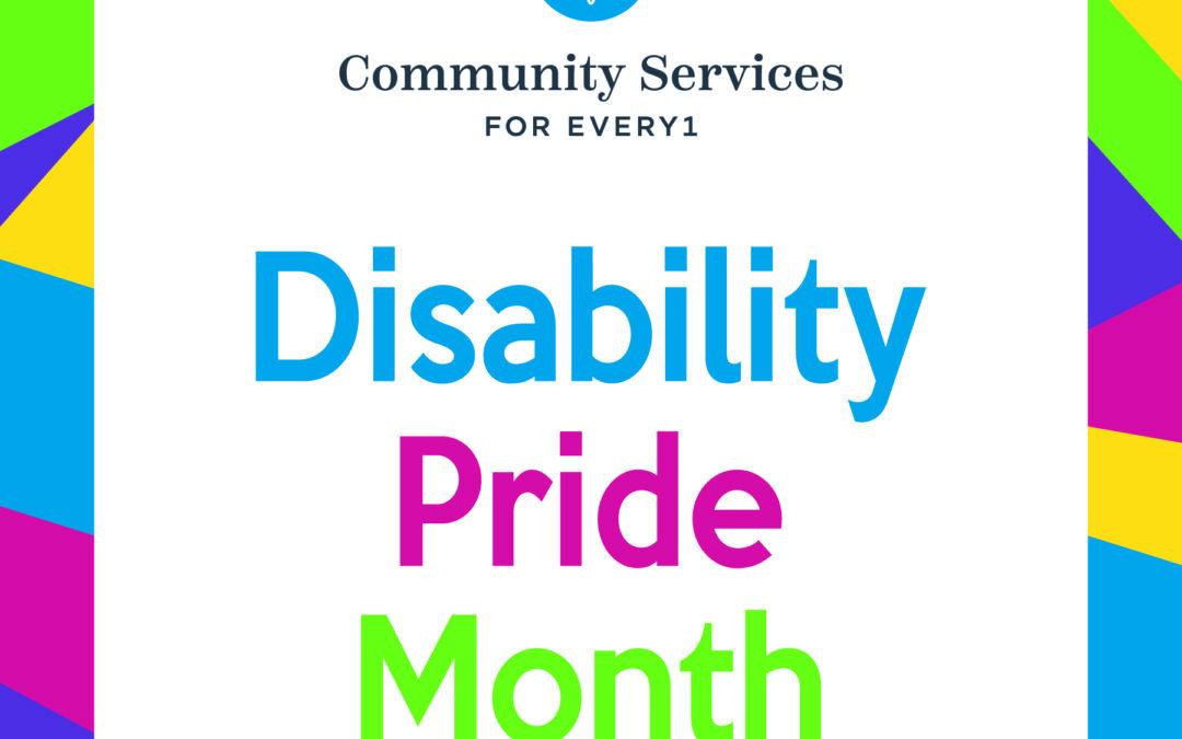 Celebrating Disability Pride