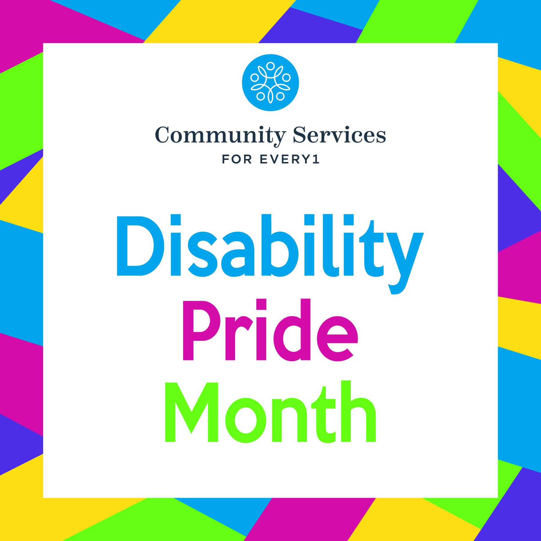Disability Pride Month graphic